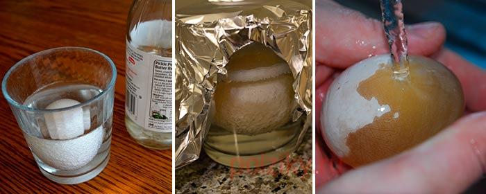 Делаем прозрачное резиновое яйцо