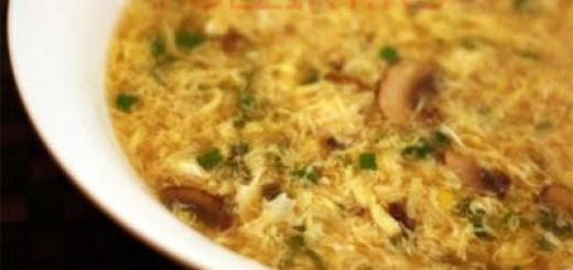Как приготовить суп с яйцом