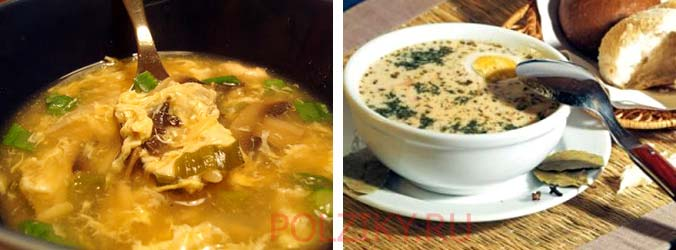 Рецепт супа с сыром и яйцом