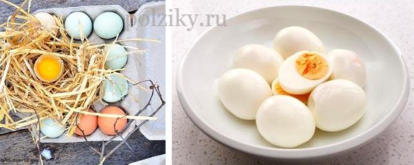 Вареные яйца на завтрак