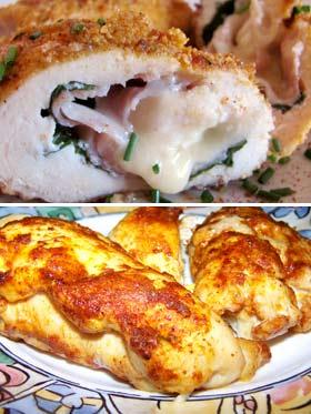 Куриная грудка с сыром, запеченная в мультиварке