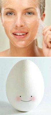 маска из белка для яйца