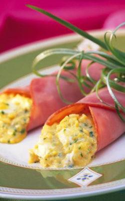 Рулеты из яиц