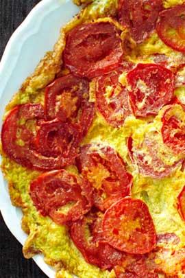 жареное яйцо с помидорами калорийность