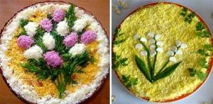 Цветы из яйца