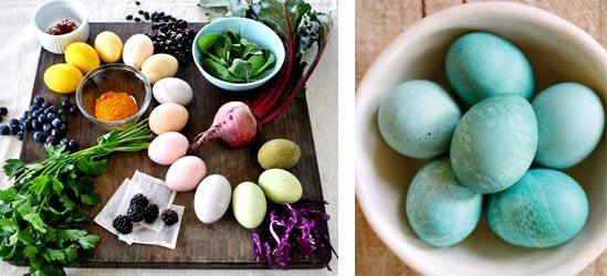 Натуральные способы красить яйца на Пасху