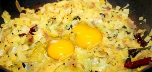 яйца с капустой