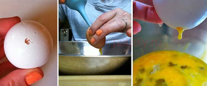 Как выдуть содержимое яйца не повредив скорлупу
