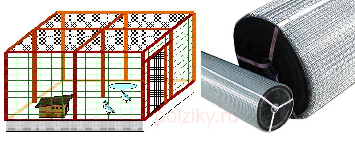 Как построить вольер для птицы на даче