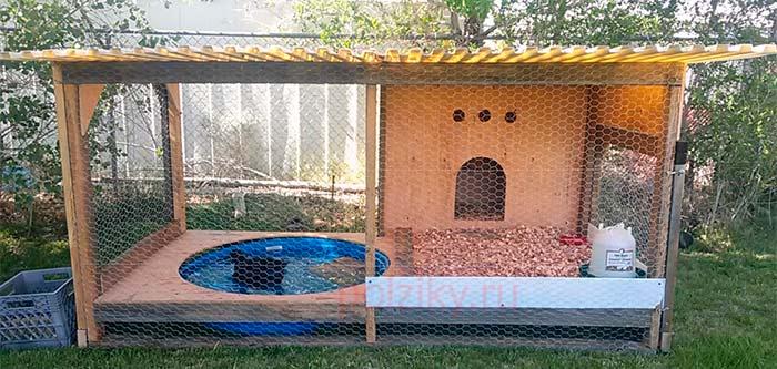 Мини-вольер для водоплавающей птицы