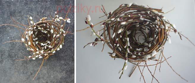 Пасхальное гнездо для яиц