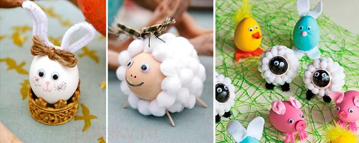 Что можно сделать из яйца поделка 804