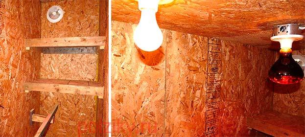 Сколько ватт лампы достаточно для курятника
