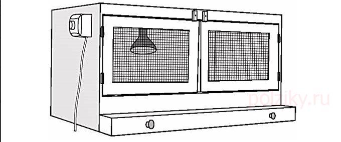 Схема брудера для индюшат