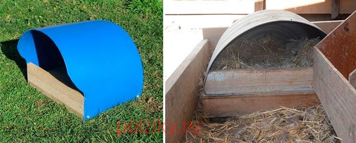 Варианты обустройства гнезда для мускусной утки