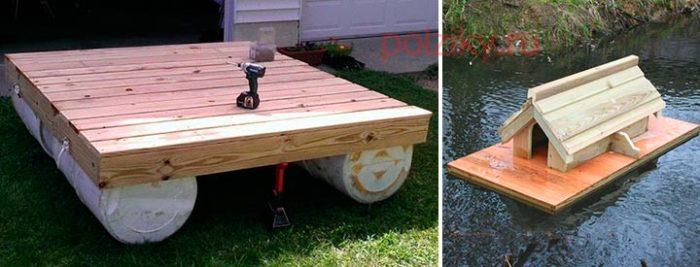 Как построить плавучую платформу для домика