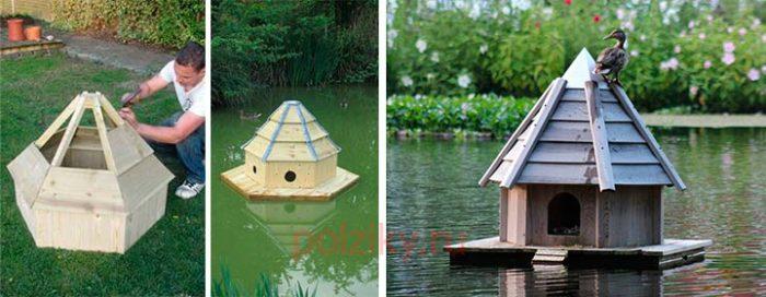 Плавучий домик для утки