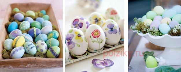 Какая расцветка должна быть у пасхальных яиц