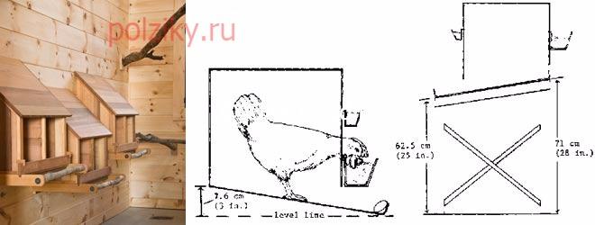 Как сделать гнезда для кур несушек