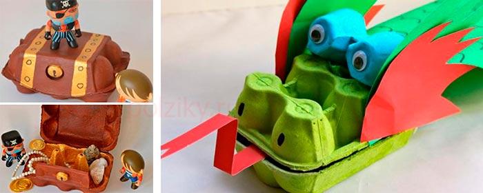 Шкатулки для сокровищ и китайский дракон для детских игр