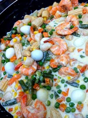 Овощи в белом соусе