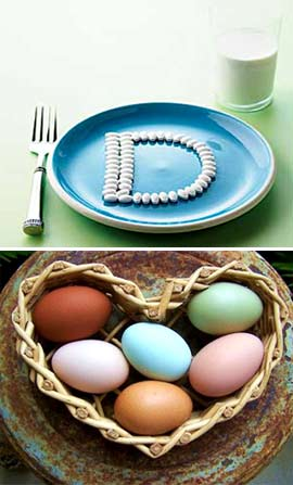 Витамин D в яйцах