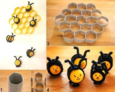 пчелки поделки из киндер сюрпризов