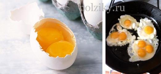 Причина яиц с двумя желтками