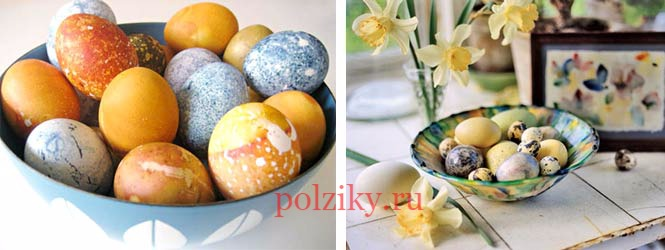 Как сделать мраморные яйца на пасху