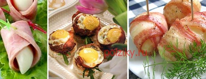 Горячая закуска из яиц на праздник