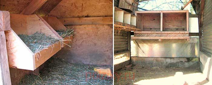 Виды конструкций гнезд для индюшек