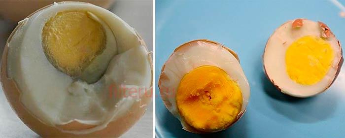 Разница сваренного в крутую искусственного и натурального яйца