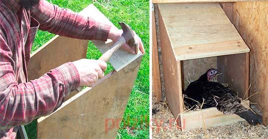 Собираем отдельно стоящее гнездо для индейки