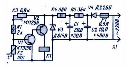 Схема сборки терморегулятора в домашних условиях