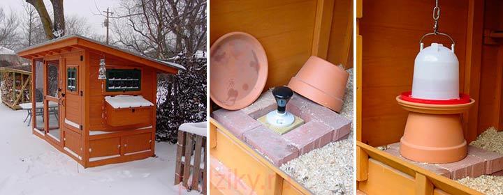 Поддержание температуры воды в курятнике зимой
