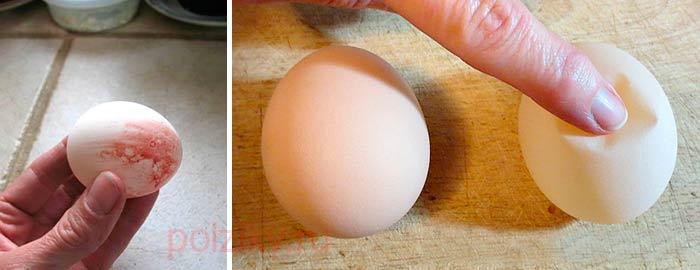 Кровь на скорлупе яйца