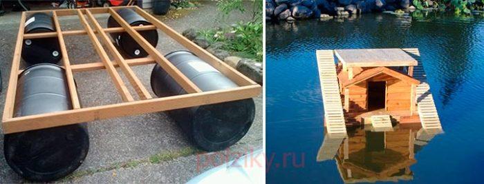 Как сделать платформу для плавающего домика для водоплавающей птицы