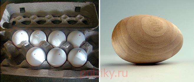 Как сделать муляж яйца для кур