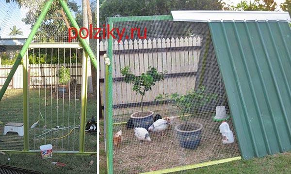 Как построить летний курятник